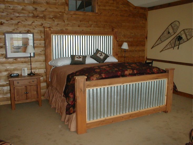 CORRUGATED METAL BED | Rustic furniture, Rustic bedding ...