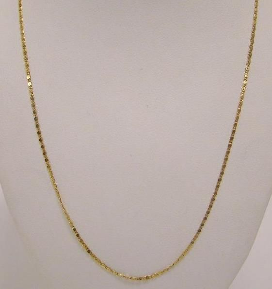 Solid 14k Yellow Gold Milor Italy Thin 1mm Scroll Chain Necklace 21 1 6g Necklace Chain Necklace Chain