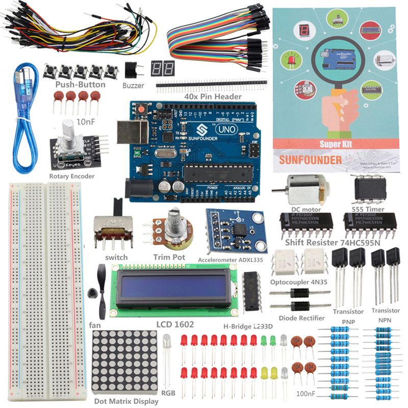 Sunfounder electronic diy kit new uno r project super