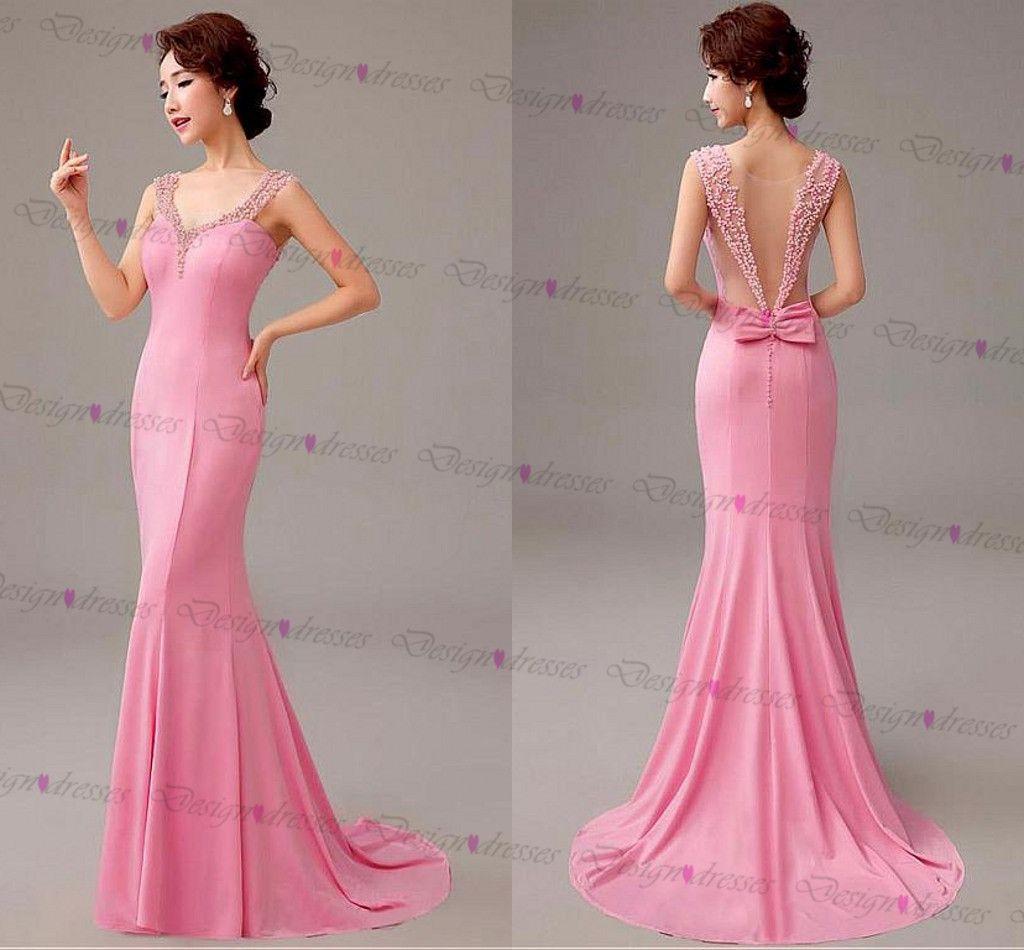 Evening Dress,pink Evening Dress,Alluring Evening Dress, Stretch ...