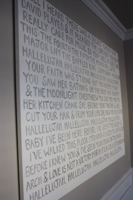 Ok Go The Writing S On The Wall Lyrics Poetry On Canvas Lyrics On Canvas Diy Artwork Dining Room Art