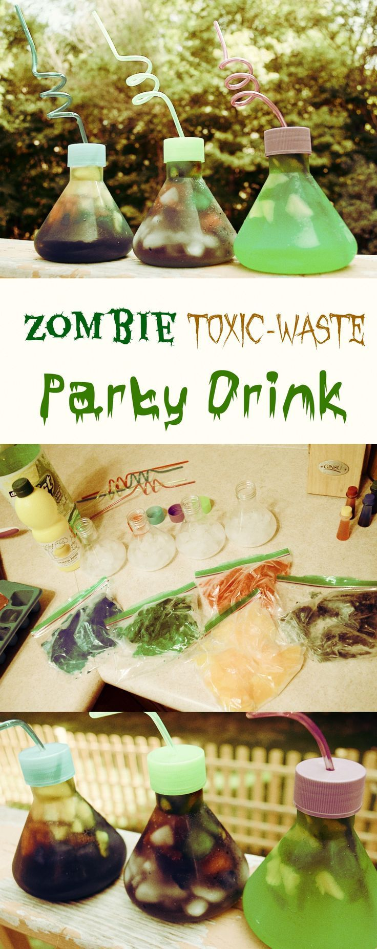 Swampy zombie toxic waste science party drinks recipe idea easy food forumfinder Images