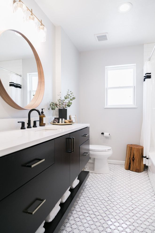 black bathroom cabinets round wall mirror white countertop on replacement countertops for bathroom vanity id=66788