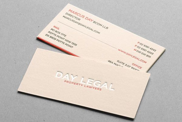 Day Legal Cotton Letterpress Business Card By Taste Of Ink Studios (via  Creattica)