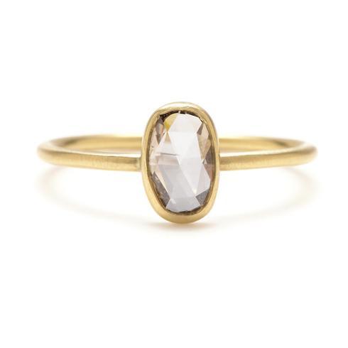 ALT STONE - OVAL CHAMPAGNE DIAMOND   Rebecca Overmann Oval Champagne Diamond Ring