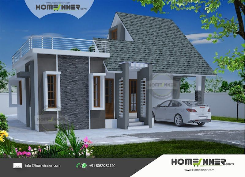 home design india. Simple and modern 869 sqft 2 Bhk Indian home Design  house design