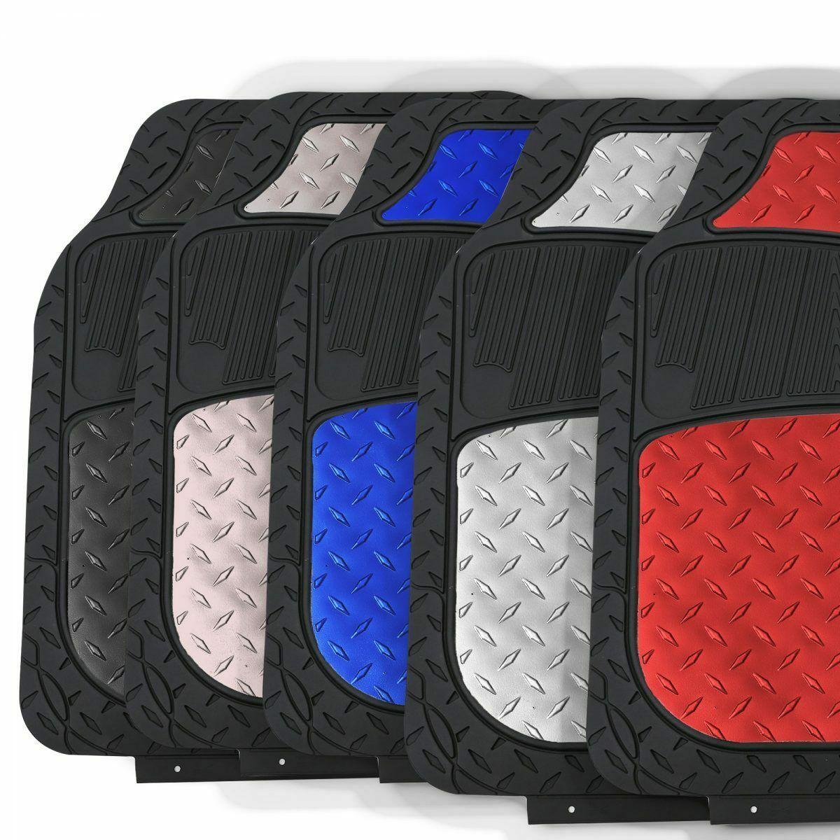 Car Floor Mats Metallic Rubber Mats Universal For Auto Car Suv Van 5 Colors Ebay Car Floor Mats Floor Mats Rubber Mat