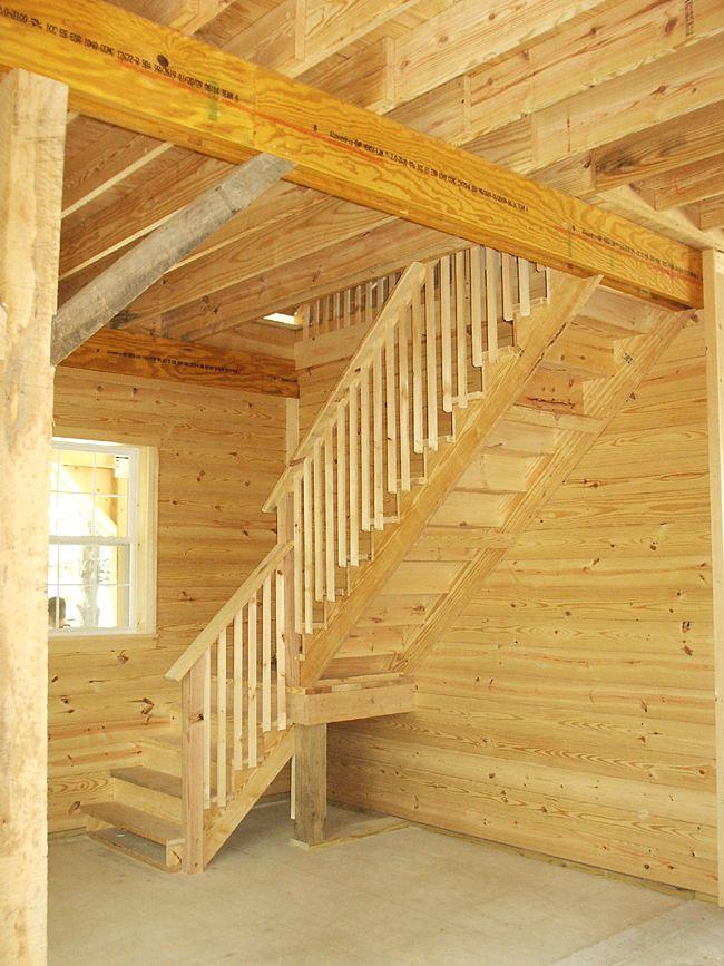 Loft stair design for 12 high walls when barn is built for Pole barn loft