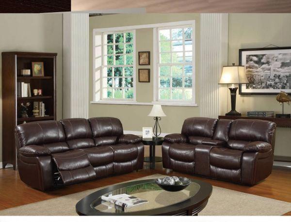 Best U8122 Series Burgundy Bonded Leather Living Room Set 400 x 300