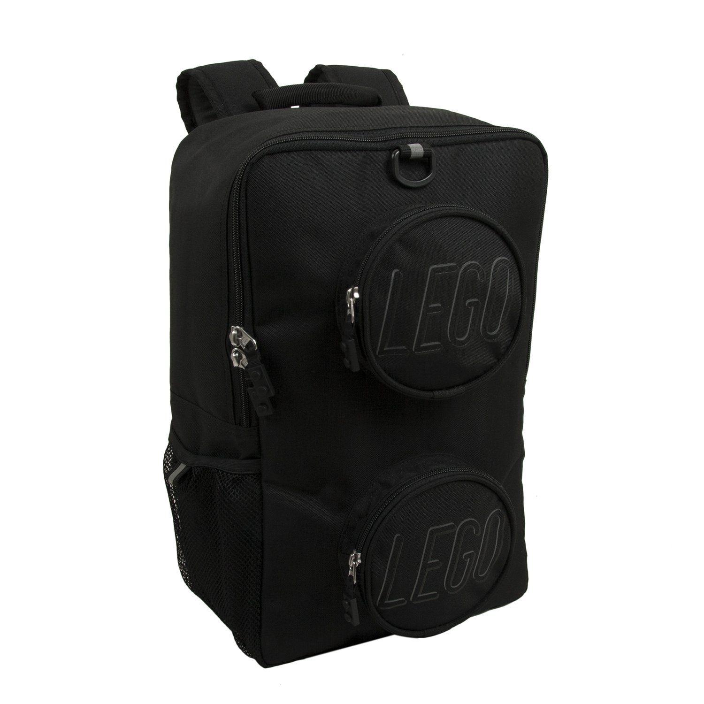 5a26fdd7d9 LEGO Black Brick Eco Backpack. Ergonomically padded