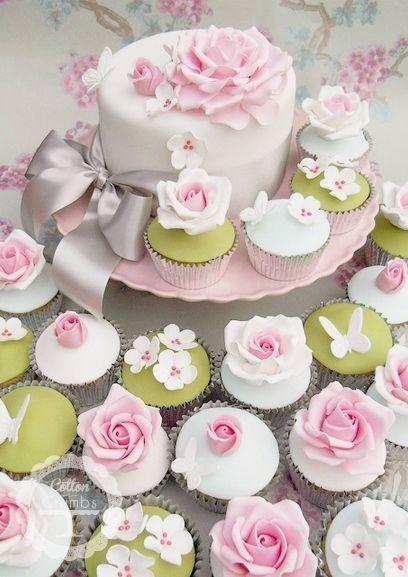 Floral Garden Cupcakes... beautiful cupcake inspiration