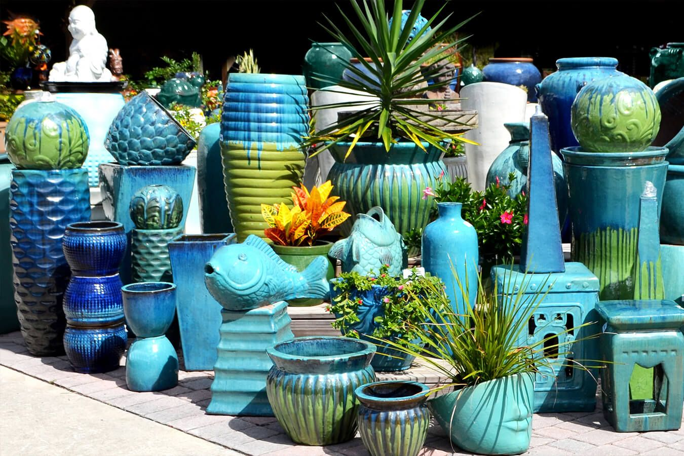 Wholesale Vietnamese Garden Pottery, Large Pots, Outdoor Planters Vases And  Urns, Pot Fountains