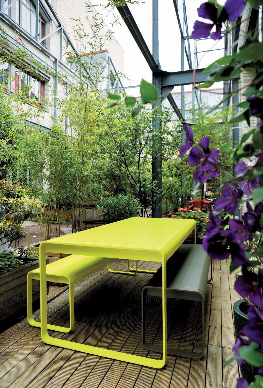 Banc Bellevie, banc design, mobilier de jardin | Mobilier ...