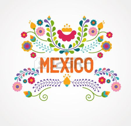 Mexique Fleurs Motif Et Des Elements Mexican Pattern Flower Drawing Mexican Embroidery