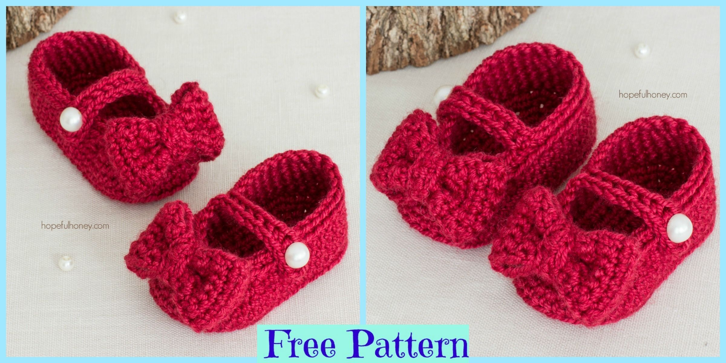 Red Crochet Mary Jane Booties - Free Pattern #dogcrochetedsweaters Red Crochet Mary Jane Booties – Free Pattern #dogcrochetedsweaters