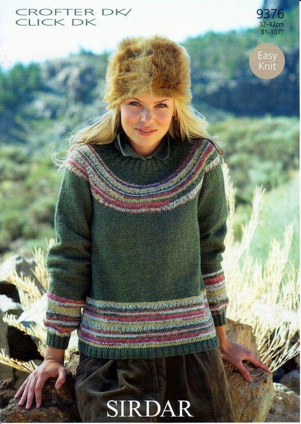 Yoked Sweater in Sirdar Crofter DK / Click DK (9376) | Art yarn ...
