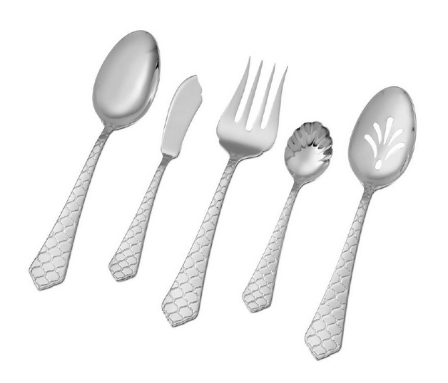 For your #Wedding Registry, 'Rio' Hostess Set: Cool and sophisticated with handles that terminate in a decoratively carved point, Rio is an elegant addition to modern and traditional tables alike.  Polished to a brilliant mirror finish this hostess set will soon be available at HamptonForge.com