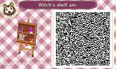 Witch S Shelf 4 Versions Animal Crossing New Leaf Qr Codes
