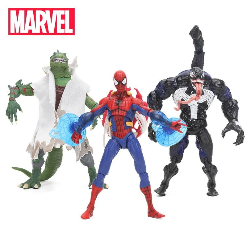 4 PCS Venom Spiderman Action Figure Cake Topper Kids Gift Doll Figurine Toys US