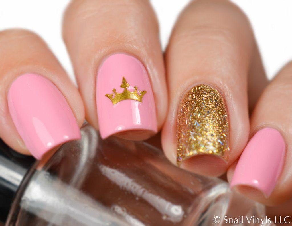 crown nail decal stencil