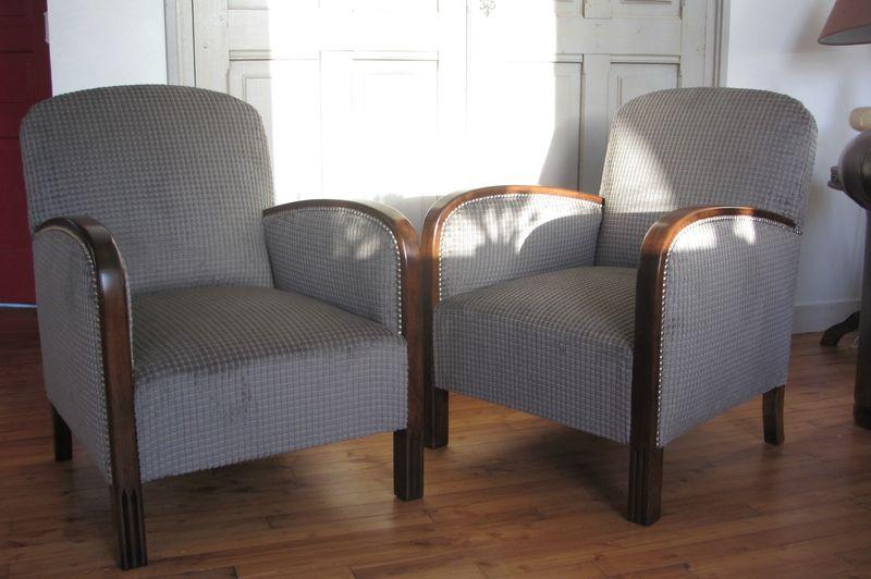 fauteuil ann e 30 r nov art d co c t si ges. Black Bedroom Furniture Sets. Home Design Ideas