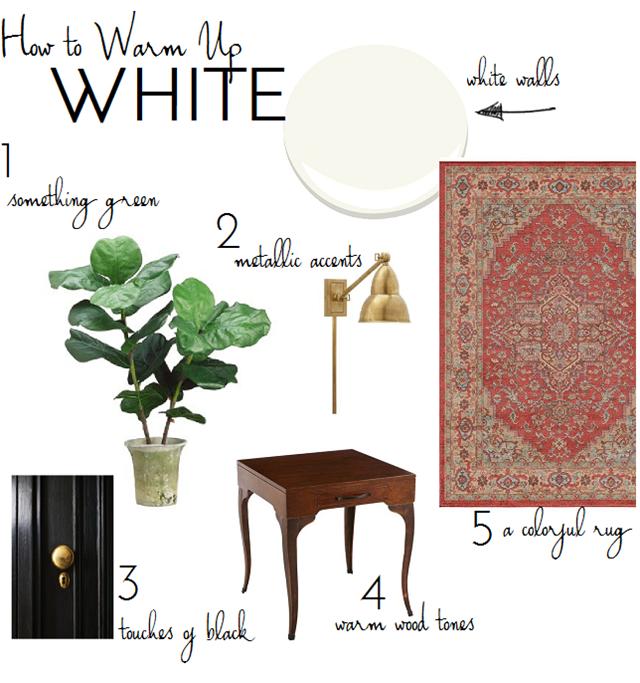 5 Ways To Warm Up White Walls Emily A Clark White Walls Living Room White Walls White Wall Decor