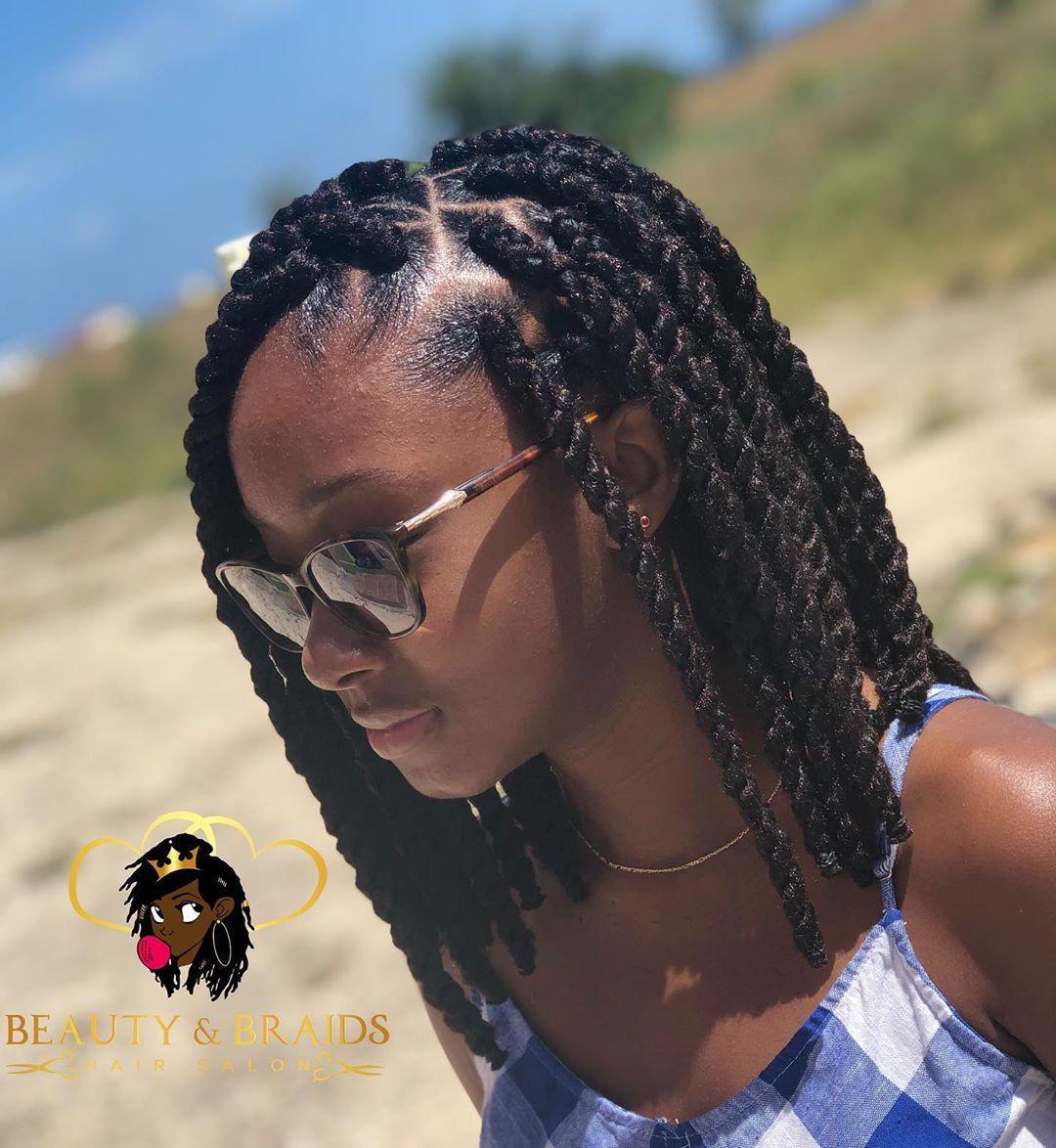 "Beauty & Braids Hair Salon on Instagram: ""😍😍😍 Marley Twist bobs for the win 😍😍😍 #braidsgang #fauxlocs #fauxlocsbarbados #bohemianlocs #goddesslocs #marleytwists #passiontwists"""