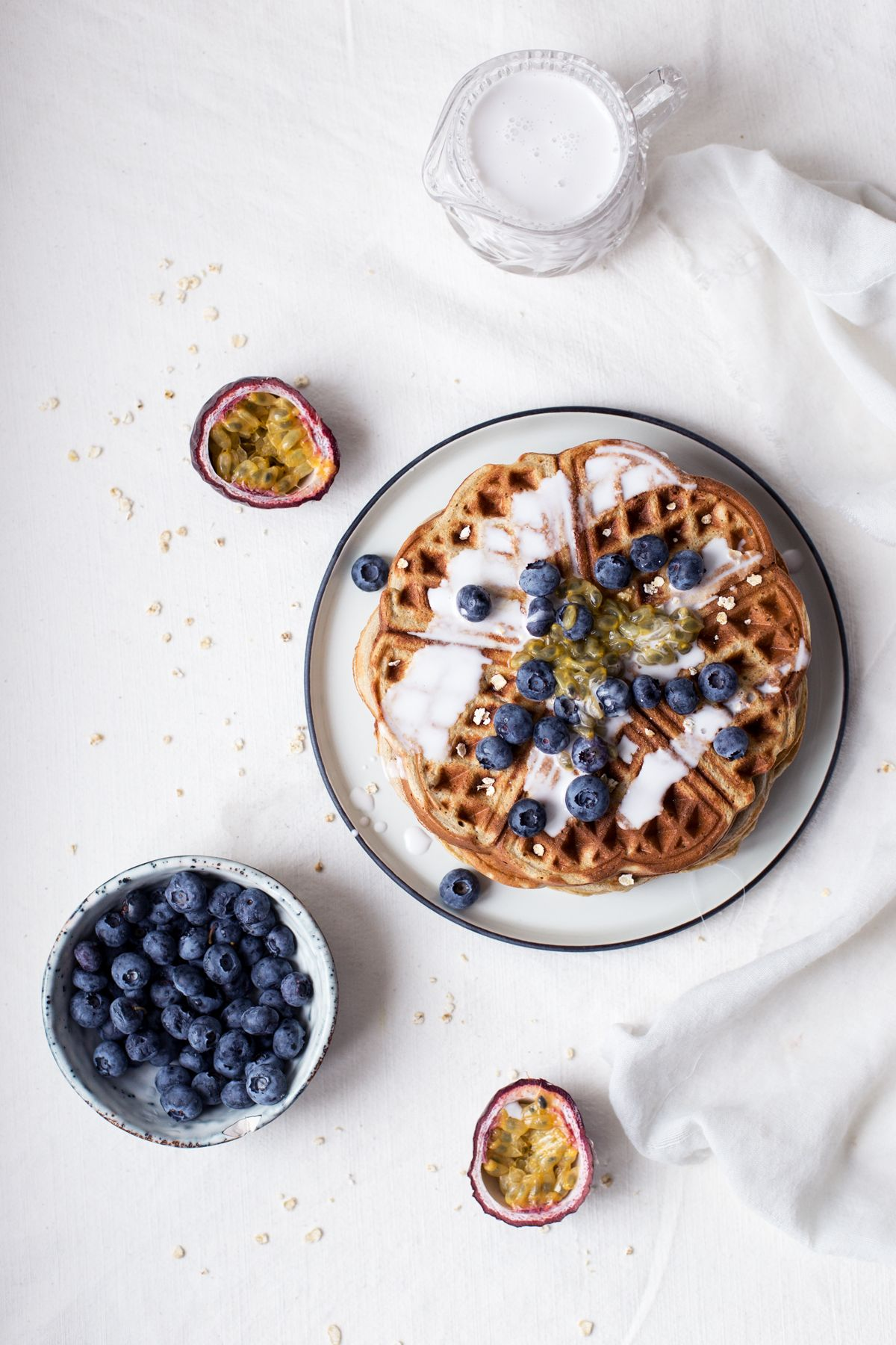 Oat, Buckwheat & Banana Waffles