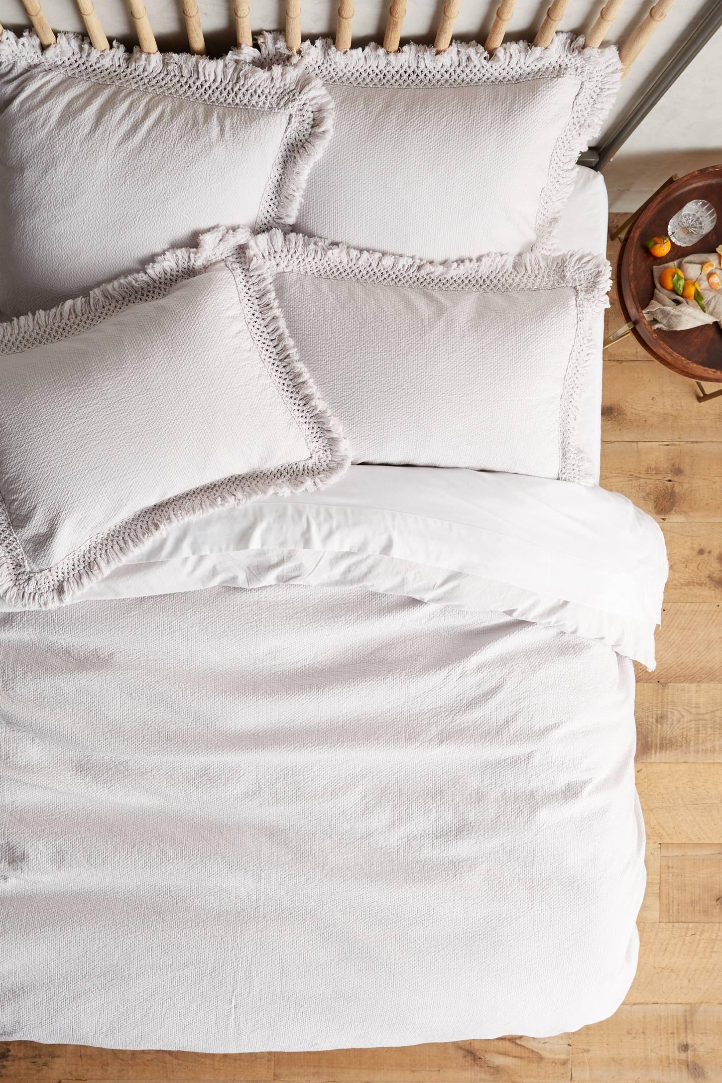 Liora Duvet Cover Duvet Bedding White Bed Set Contemporary Bed Linen