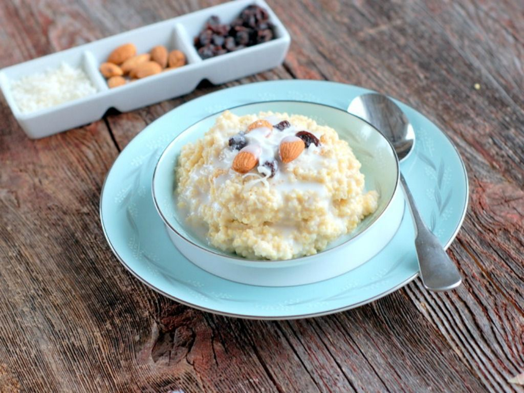Coconut Millet Breakfast Porridge is creamy, delicious, and a healthy way to start your day. A gluten-free recipe to introduce millet to your family.