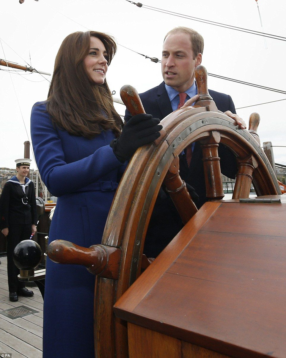 It's Captain Kate! The couple, who coordinated their blue hued outfits, also had the chanc...