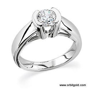 rings wedding platinum engagement diamond ring pin cushion orospot mounting