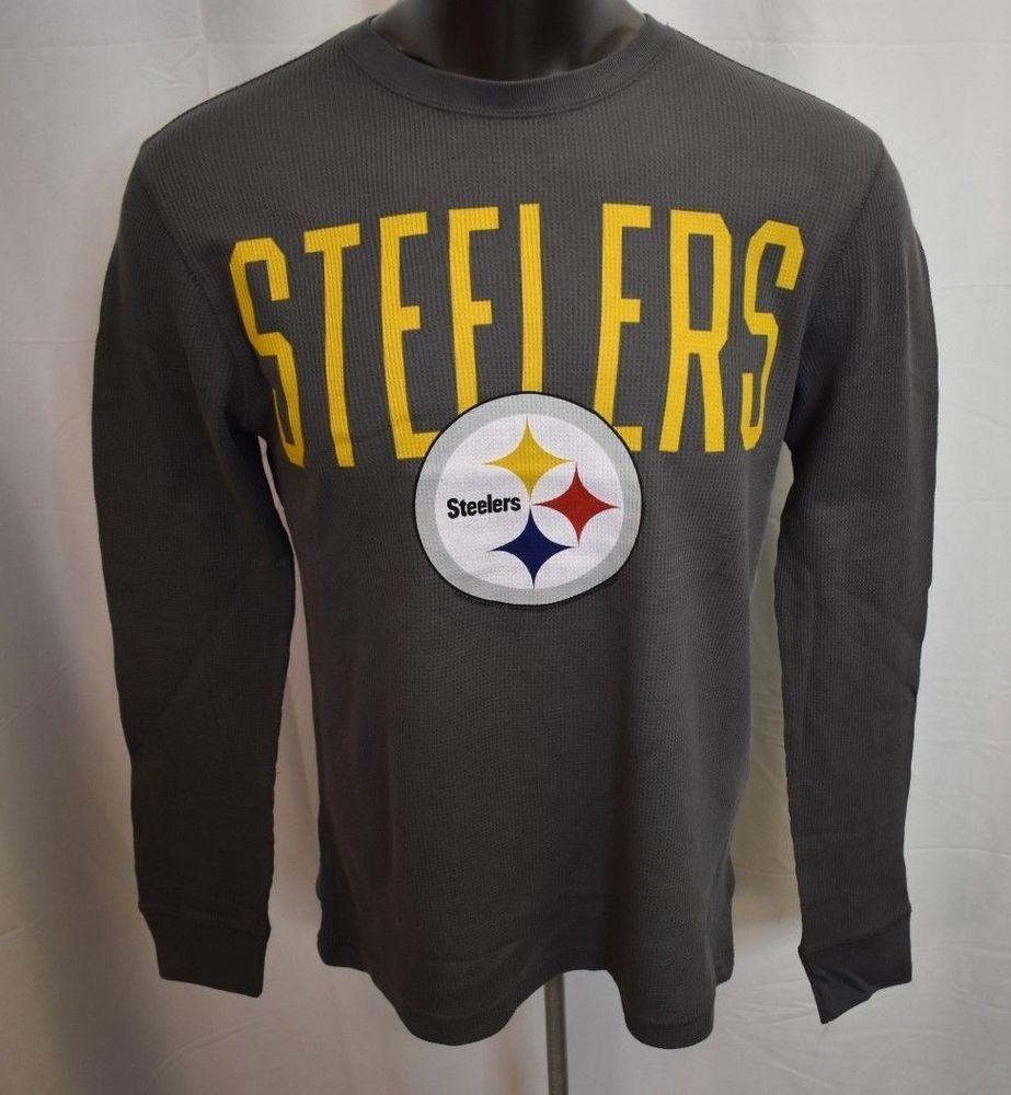 NFL Team Apparel Mens Pittsburgh Steelers Thermal Long Sleeve Shirt ... 13efed6bc