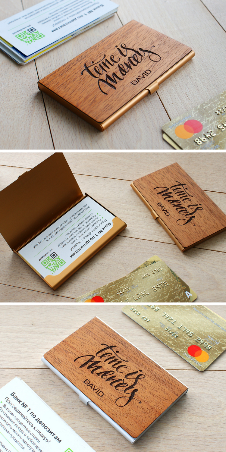 Personalized business card case custom credit card holder  Etsy