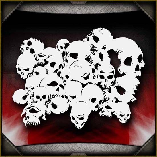 Skull Background 3 Airbrush Stencil Template Airsick