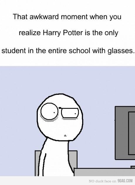Simply explained as this....they are magical, they can obviously fix their vision with a spell. But not Harry. Because he's a horcrux.