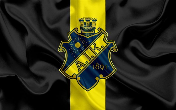 fdf65fcde62 Download wallpapers AIK FC, 4K, Swedish football club, AIK logo, emblem,  Allsvenskan, football, Stockholm, Sweden, silk flag, Swedish Football  Championships