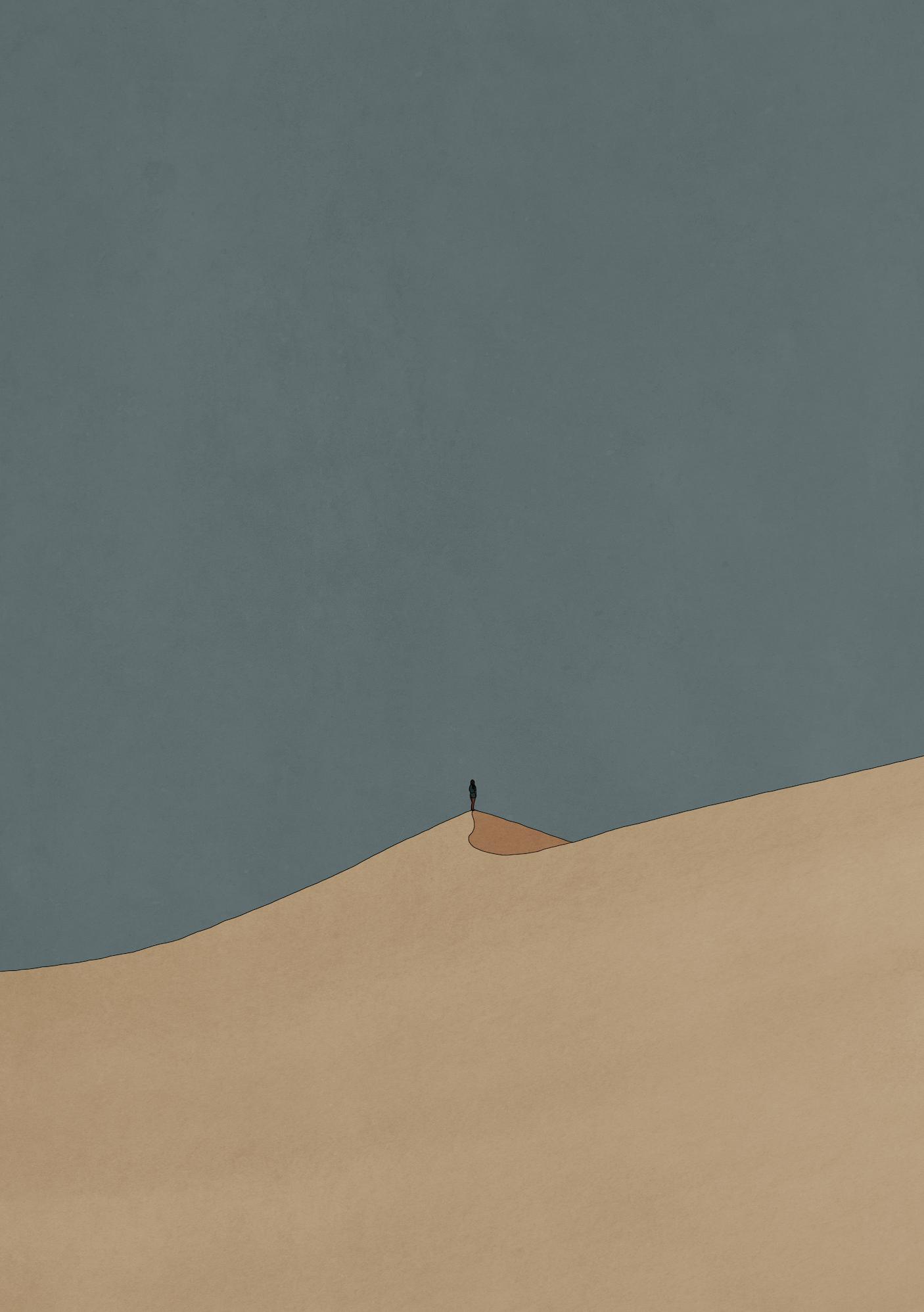 Sand Dunes Illustration