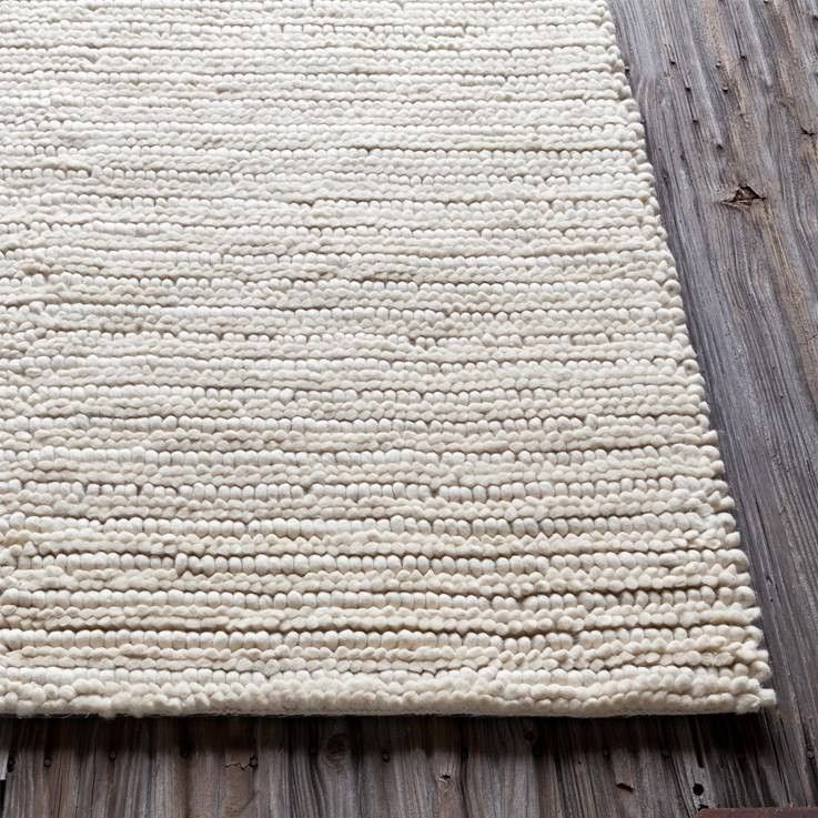 Anni Textured Rug In Ivory With Images