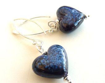 Scarlet Arc glass heart pendant by Lush Lampwork by LushArtGlass