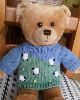 Teddy spring sweater pattern by linda Mary | Teddy bear ...