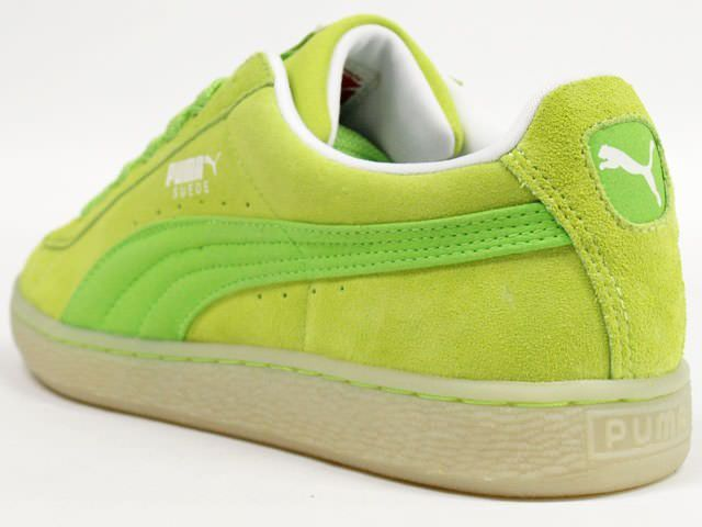 lime green puma suede