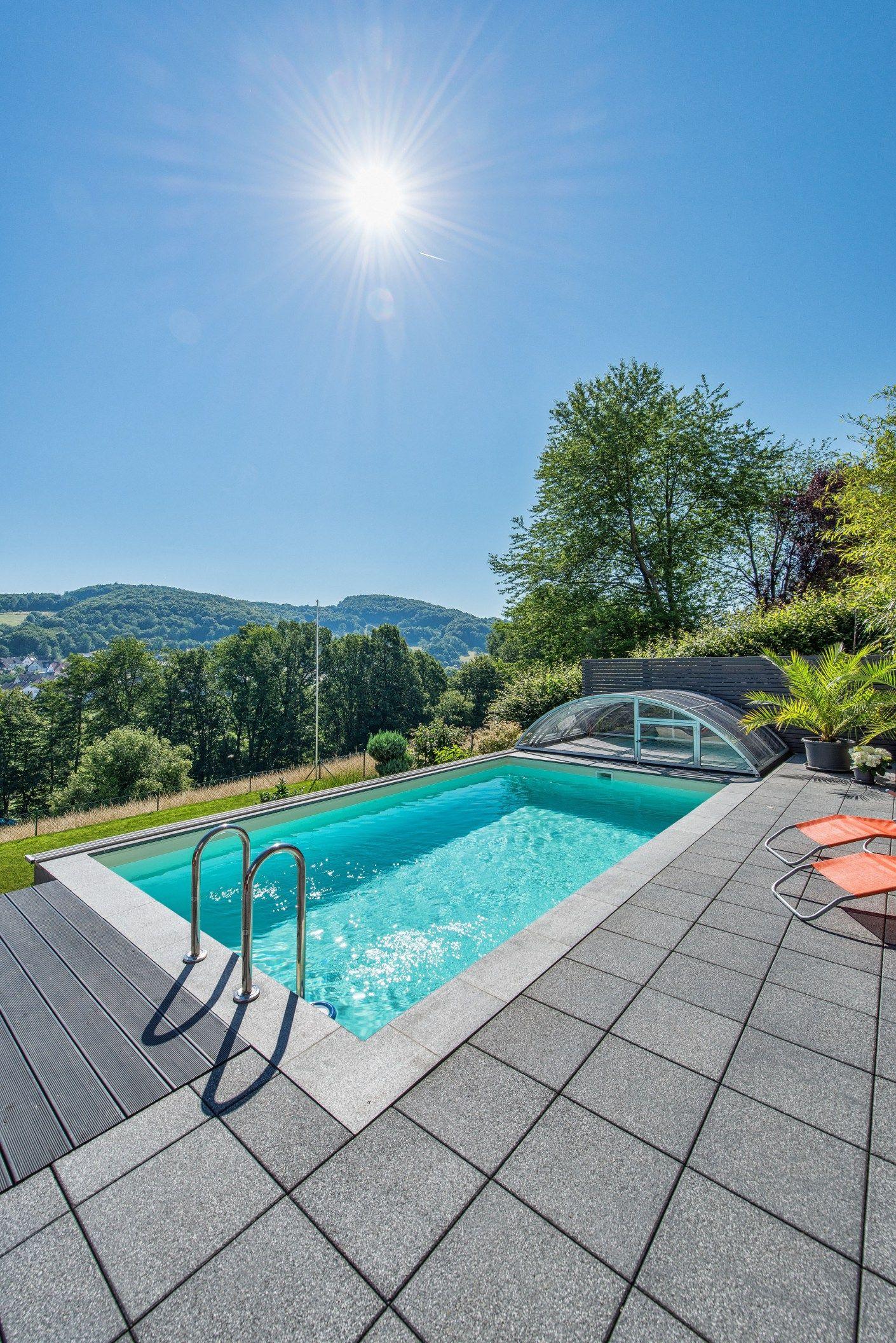 stunning pool g nstig bauen images. Black Bedroom Furniture Sets. Home Design Ideas