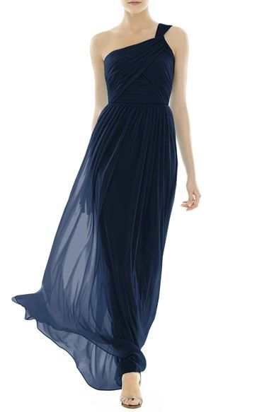 0e2f6c5c6993 Alfred Sung One-Shoulder Shirred Chiffon Gown | Nordstrom ...