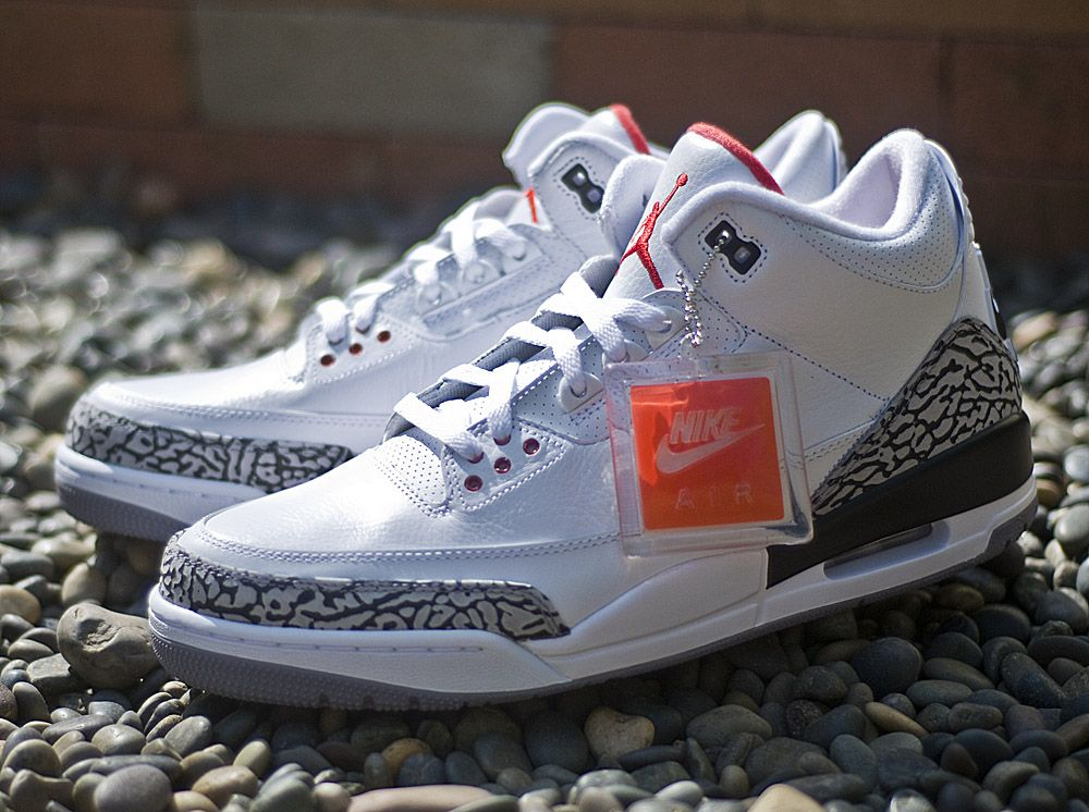 nike air jordan 3 retro white cement og
