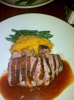 Duck w/ mased sweet potato and garlic string beans from Citrus Bar & Grill