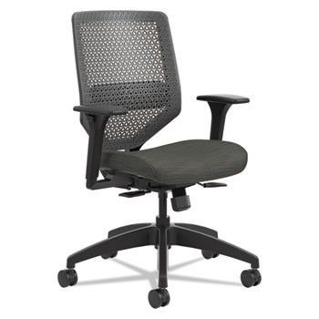 Solve Series Reactiv Back Task Chair, Ink/charcoal