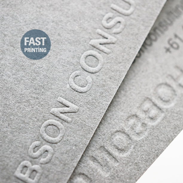Embossed Finish On Uncoated Extra Grey Stock Fpbusinesscards