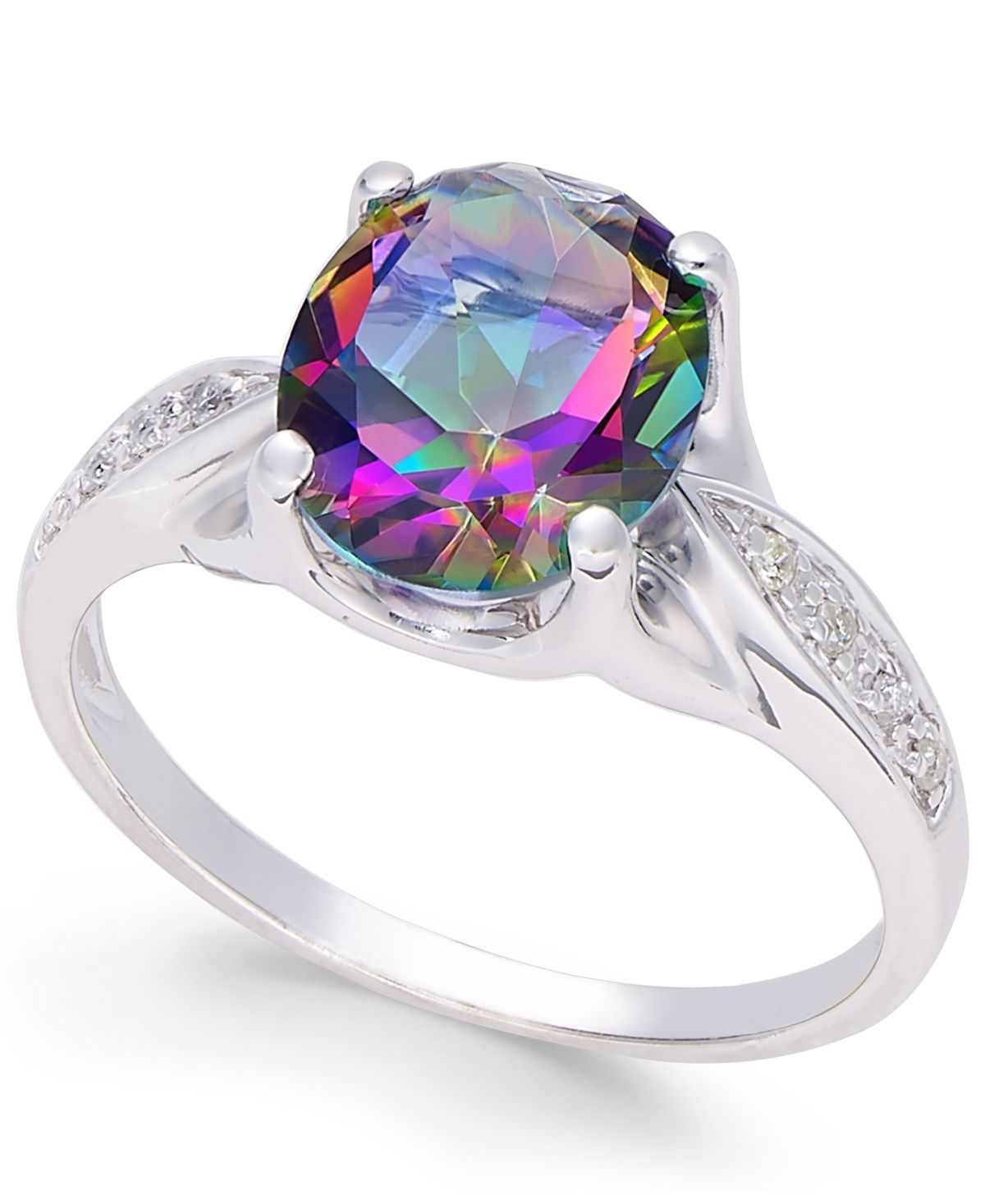 Mystic Topaz (3 Ct. T.w.) And Diamond Accent Ring In 14k