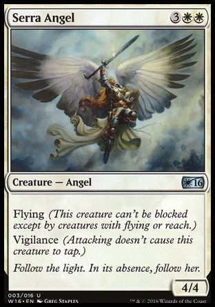 image about Printable Mtg Proxies referred to as Serra Angel (Welcome Deck 2016) Tasks that aspect